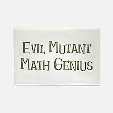 Evil Mutant Math Genius Rectangle Magnet