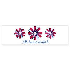 All American Girl Bumper Bumper Sticker