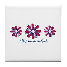All American Girl Tile Coaster