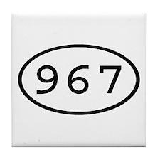 967 Oval Tile Coaster