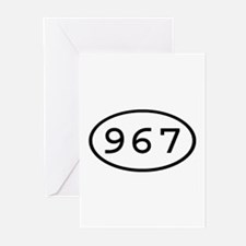 967 Oval Greeting Cards (Pk of 10)