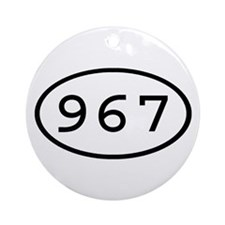 967 Oval Ornament (Round)