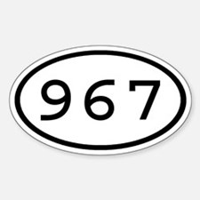 967 Oval Oval Decal