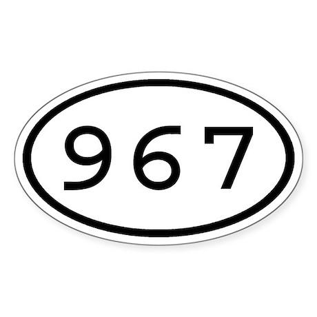 967 Oval Oval Sticker