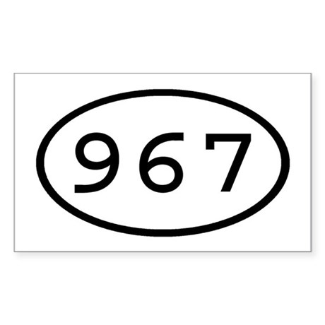 967 Oval Rectangle Sticker