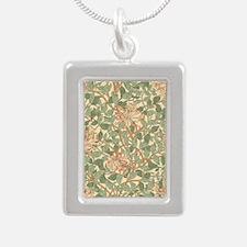 William Morris Honeysuck Silver Portrait Necklace