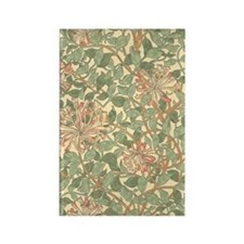 William Morris Honeysuckle patter Rectangle Magnet