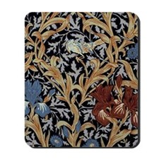 William Morris Iris Pattern Mousepad