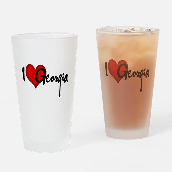 I LOVE GEORGIA Drinking Glass