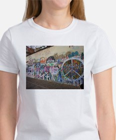 John Lennon Wall Imagine Women's T-Shirt