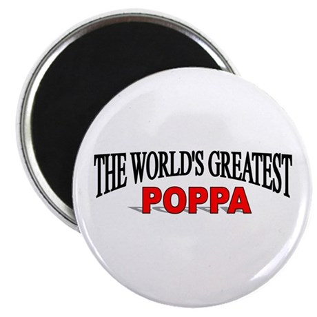 """The World's Greatest Poppa"" Magnet"
