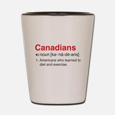Funny Canadians Definition Shot Glass