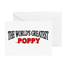 """""""The World's Greatest Poppy"""" Greeting Cards (Packa"""