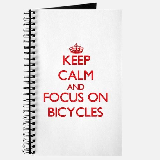 Cute Keep calm cycle Journal
