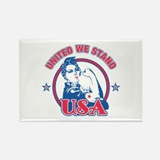 Rosie Riveter United USA Rectangle Magnet