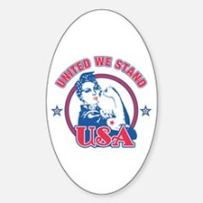 Rosie Riveter United USA Oval Decal