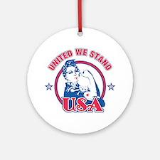 Rosie Riveter United USA Ornament (Round)