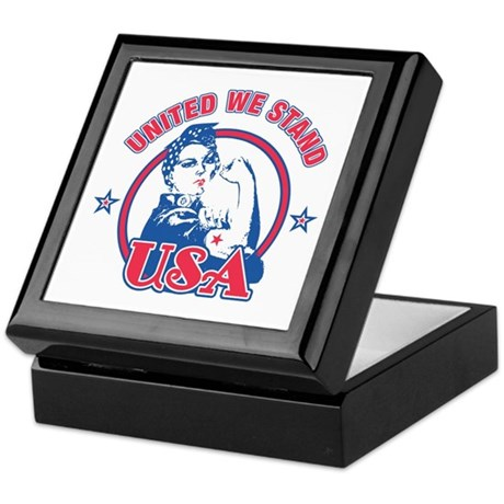 Rosie Riveter United USA Keepsake Box