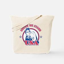 Rosie Riveter United USA Tote Bag