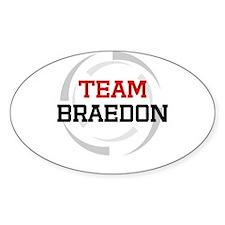 Braedon Oval Decal