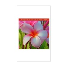 Plumeria Blossom Rectangle Decal