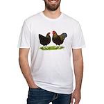 BLR Wyandottes Dark Fitted T-Shirt