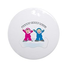 Happy Snow Days Ornament (Round)