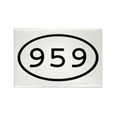 959 Oval Rectangle Magnet
