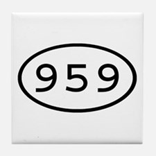 959 Oval Tile Coaster