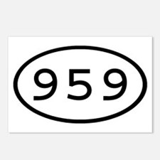 959 Oval Postcards (Package of 8)
