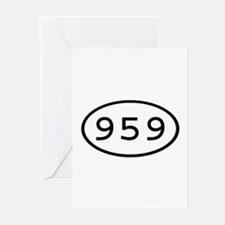 959 Oval Greeting Cards (Pk of 10)