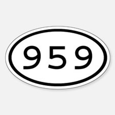959 Oval Oval Decal