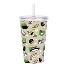 Sushi Characters Patte Acrylic Double-wall Tumbler