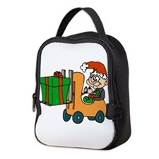 elf with package on forklift.png Neoprene Lunch Ba
