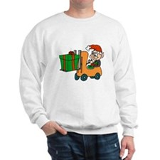 elf with package on forklift.png Sweatshirt