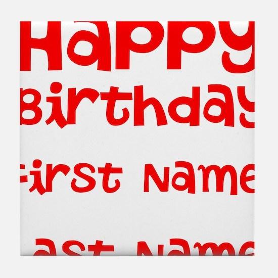 Happy Birthday Tile Coaster