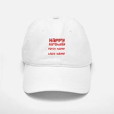 Happy Birthday Baseball Hat
