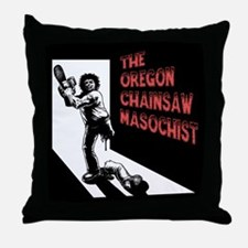 Chainsaw Masochist Throw Pillow