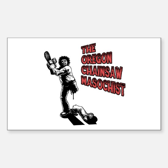 Chainsaw Masochist Rectangle Decal