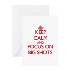 Keep Calm and focus on Big Shots Greeting Cards
