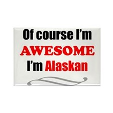 Alaska Is Awesome Rectangle Magnet