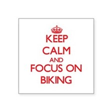 Keep Calm and focus on Biking Sticker