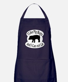 I Like Pig Butts and I Can not Lie Apron (dark)