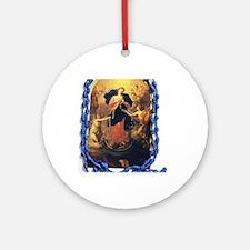 Mary Undoer of Knots Round Ornament