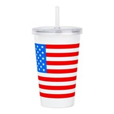 American Flag Light Acrylic Double-Wall Tumbler