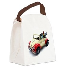 a old tin  car toy Canvas Lunch Bag