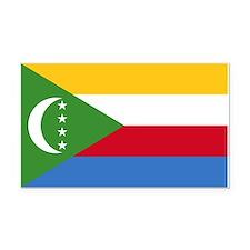 Flag of Comoros Rectangle Car Magnet