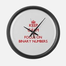 Unique Binary numbers Large Wall Clock