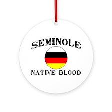 Seminole Native Blood Ornament (Round)