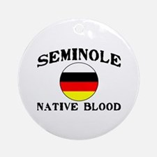 Seminole Native Blood Ornament (Round)